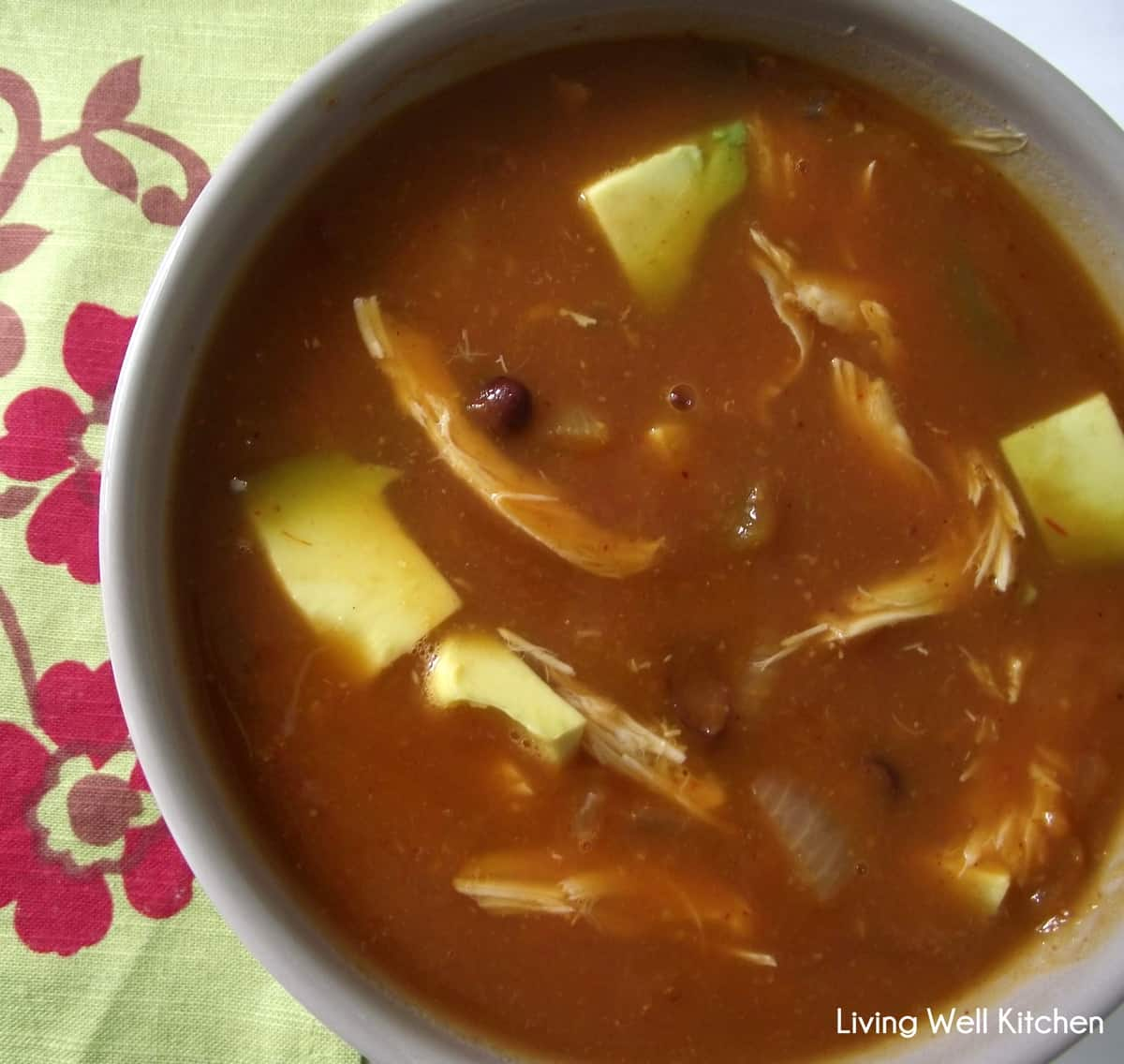 Mexican Pumpkin Soup #recipe from Living Well Kitchen