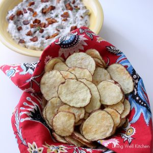 Microwave Potato Chips from Living Well Kitchen