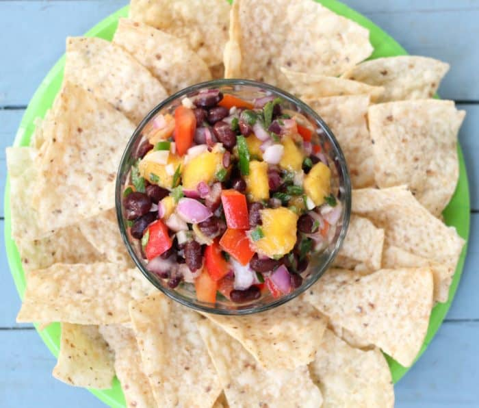 Mango Black Bean Salsa from @memeinge makes everything taste tropical. It's great as a dip or over cooked chicken breast or fish