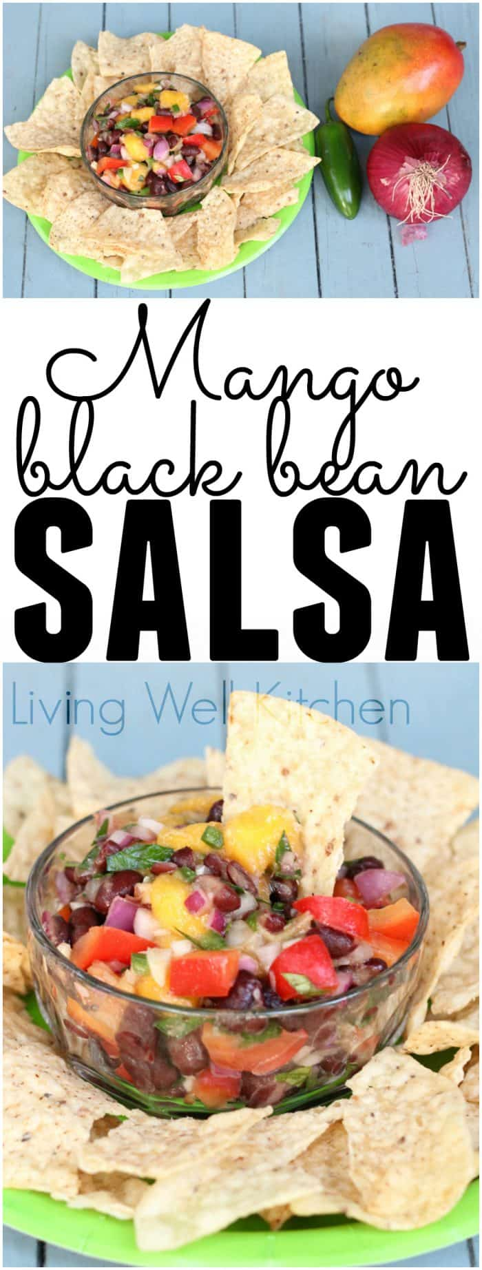 Mango Black Bean Salsa from @memeinge is gluten-free & vegan and makes everything taste tropical. It's great as a dip or over cooked chicken breast or fish!