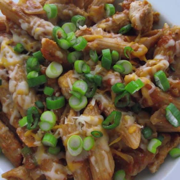 Barbecue Pork And Penne Skillet Recipe: Skillet BBQ Chicken Pasta