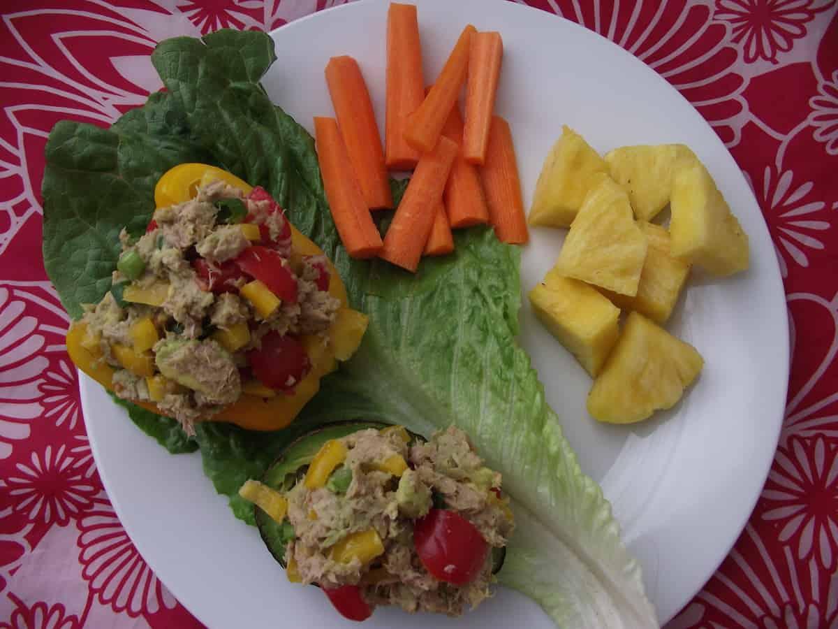 tuna salad stuffed avocado