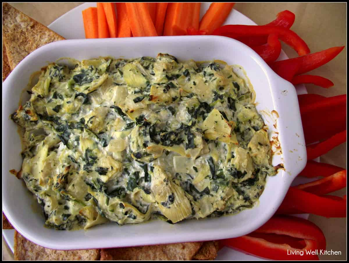 Spinach Artichoke Dip from Living Well Kitchen
