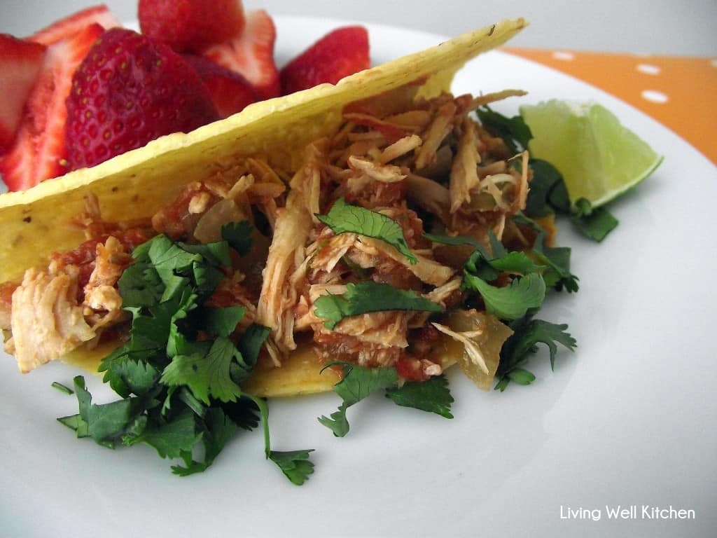 Slow Cooker Salsa Chicken from Living Well Kitchen