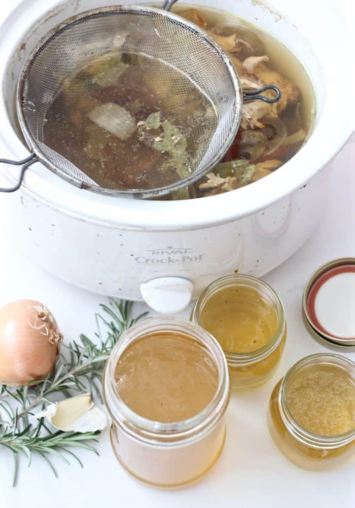 Slow Cooker Chicken Broth from Living Well Kitchen