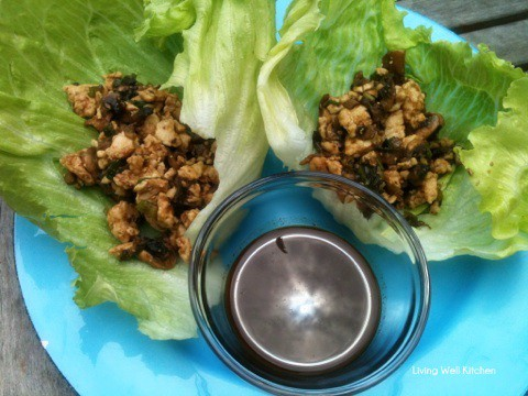 Flavorful lettuce wraps full of ground turkey, mushrooms, green onions, and water chestnuts. A definite crowd pleaser