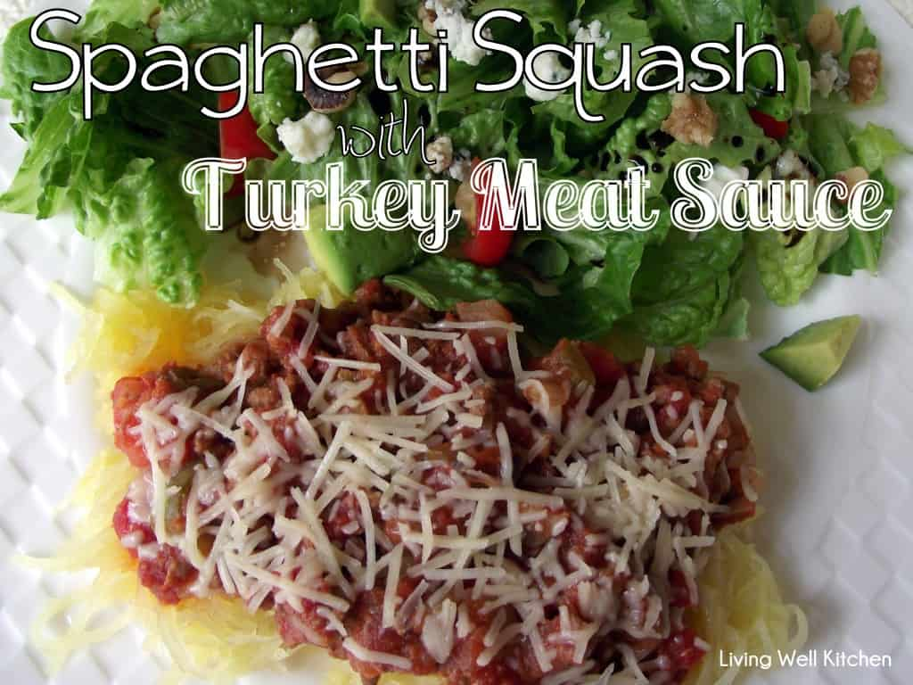 This tasty, low-carb spaghetti uses baked spaghetti squash instead of pasta noodles. Serve with a big green salad or a slice of French bread to soak up the extra sauce.