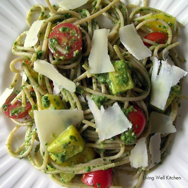 Quick Pesto Pasta from Living Well Kitchen