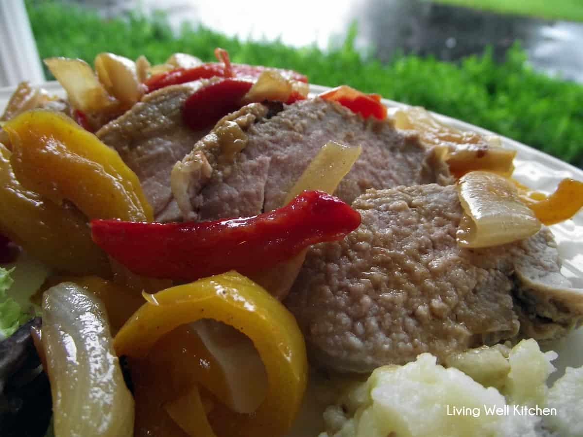 Pork Tenderloin with Vegetable Sauce