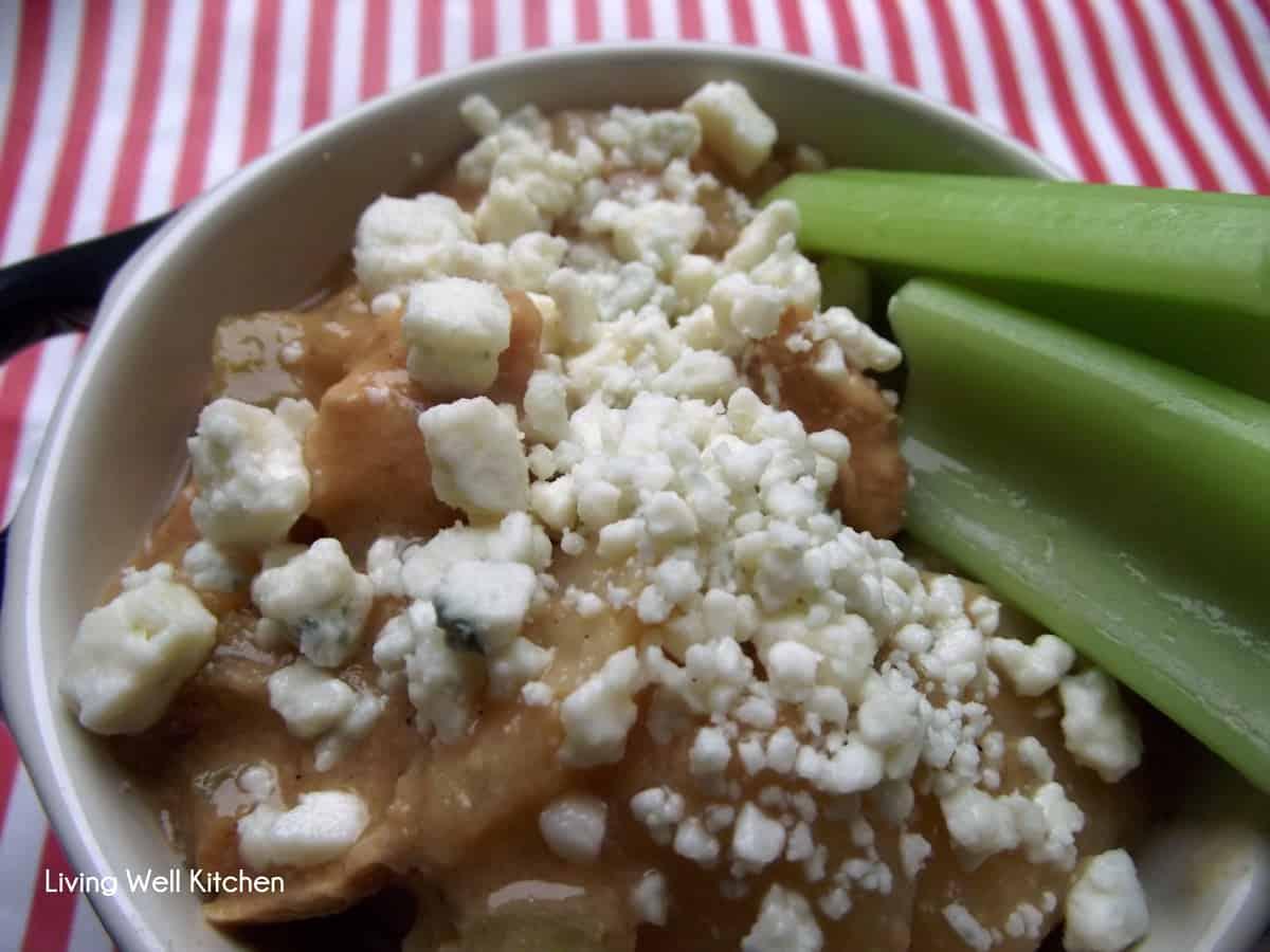 Crock-pot buffalo chicken chowder