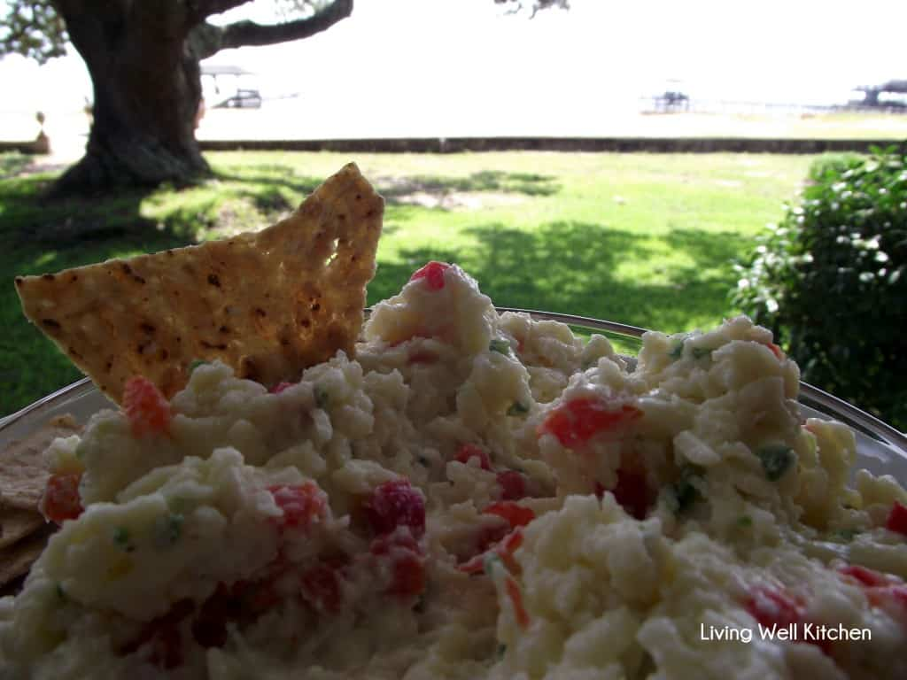 bowl of White Cheddar Pimento Cheese