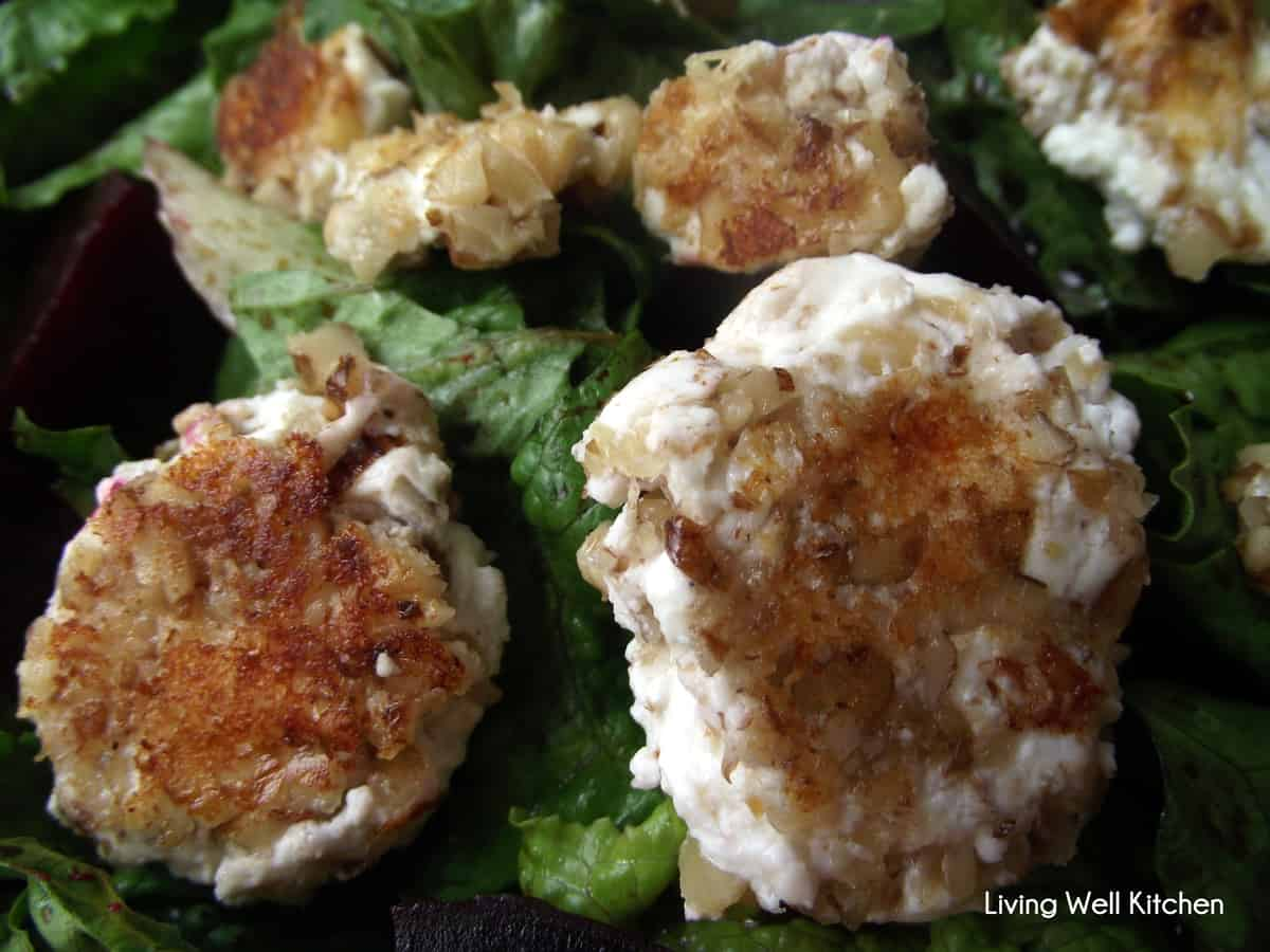 Fried Goat Cheese Roasted Beet Salad | Living Well Kitchen
