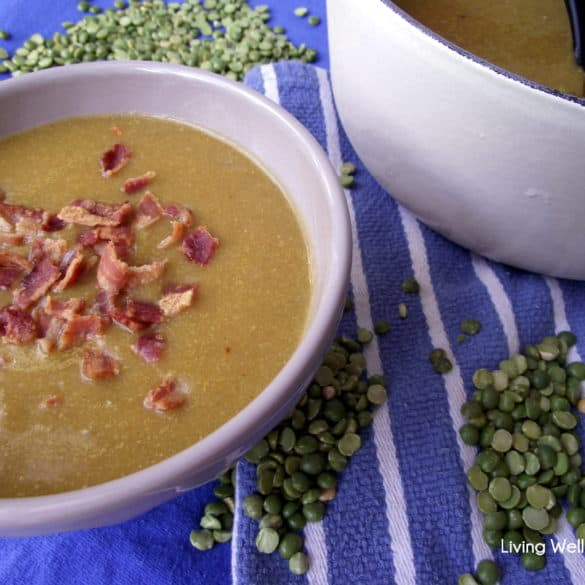 split pea soup from Living Well Kitchen