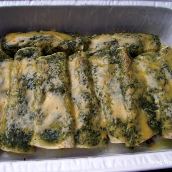 beef enchiladas with salsa verde from Living Well Kitchen
