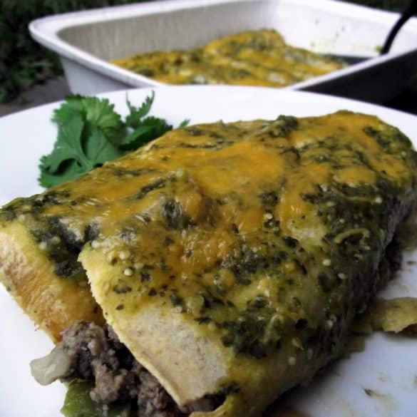 beef enchiladas with salsa verde from LivingWellKitchen.com