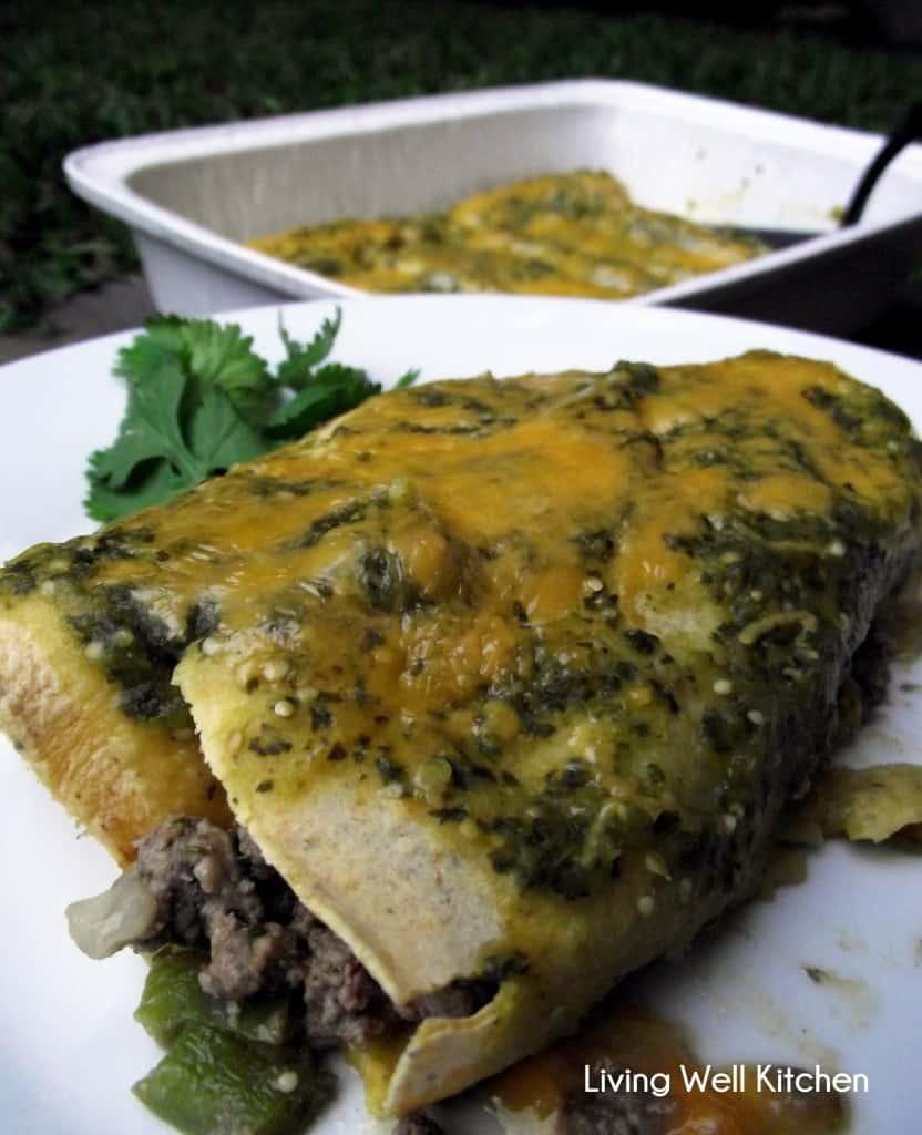 Beef Enchiladas with Salsa Verde | Living Well Kitchen