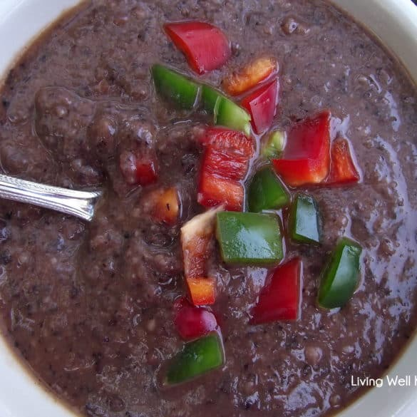 black bean soup #recipe from Living Well Kitchen