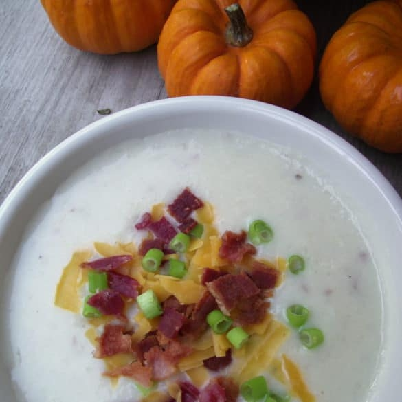 loaded potato soup #recipe from Living Well Kitchen