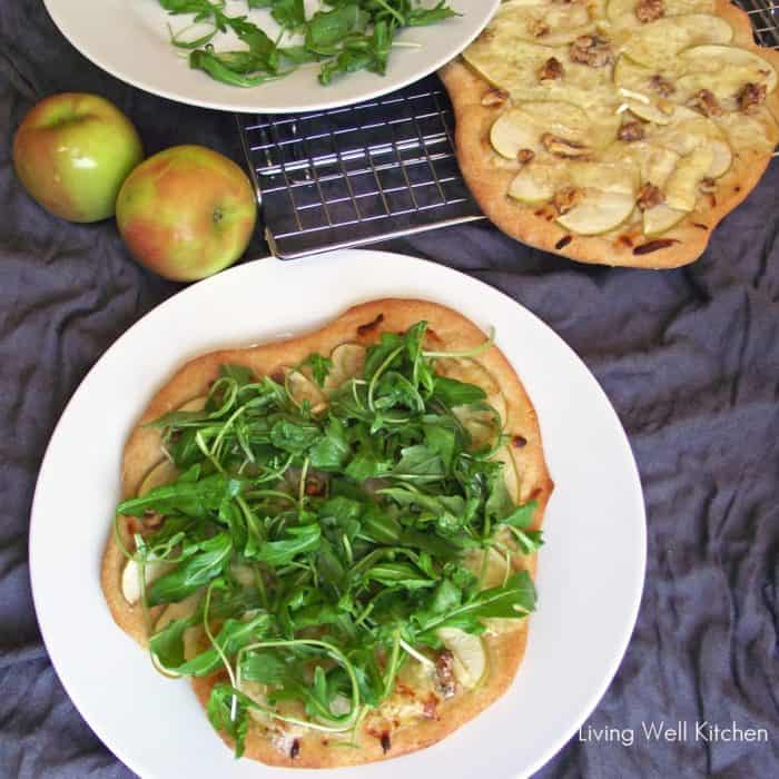 Apple Walnut and Brie Pizza from Living Well Kitchen