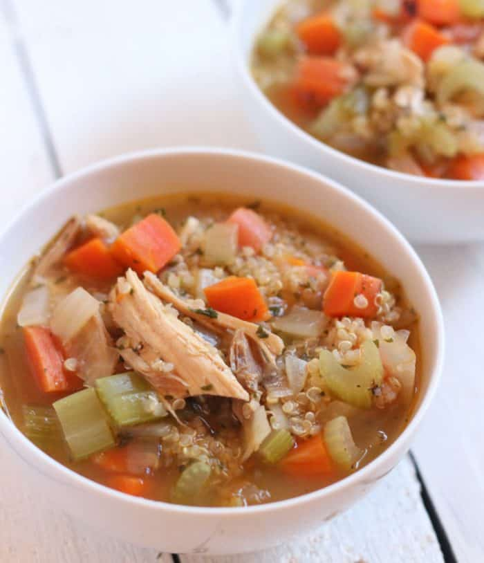 Use leftover turkey to make this nourishing and filling soup perfect for the holiday season