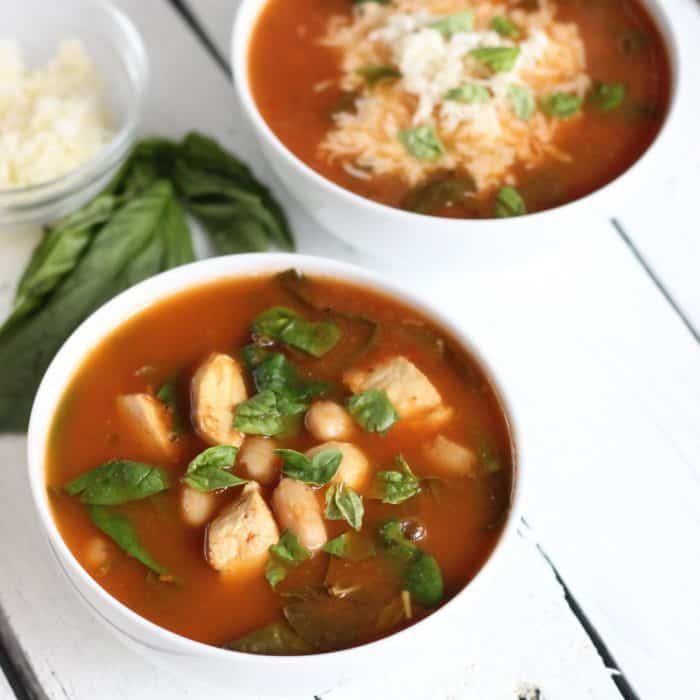 Chicken, Spinach, and White Bean Soup from Living Well Kitchen
