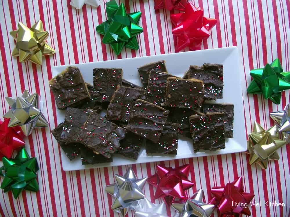 Christmas Toffee AKA Christmas Crack from Living Well Kitchen