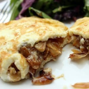 Caramelized Onion Omelet from Living Well Kitchen