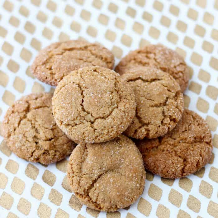 Easy Whole Wheat Gingersnaps cookies