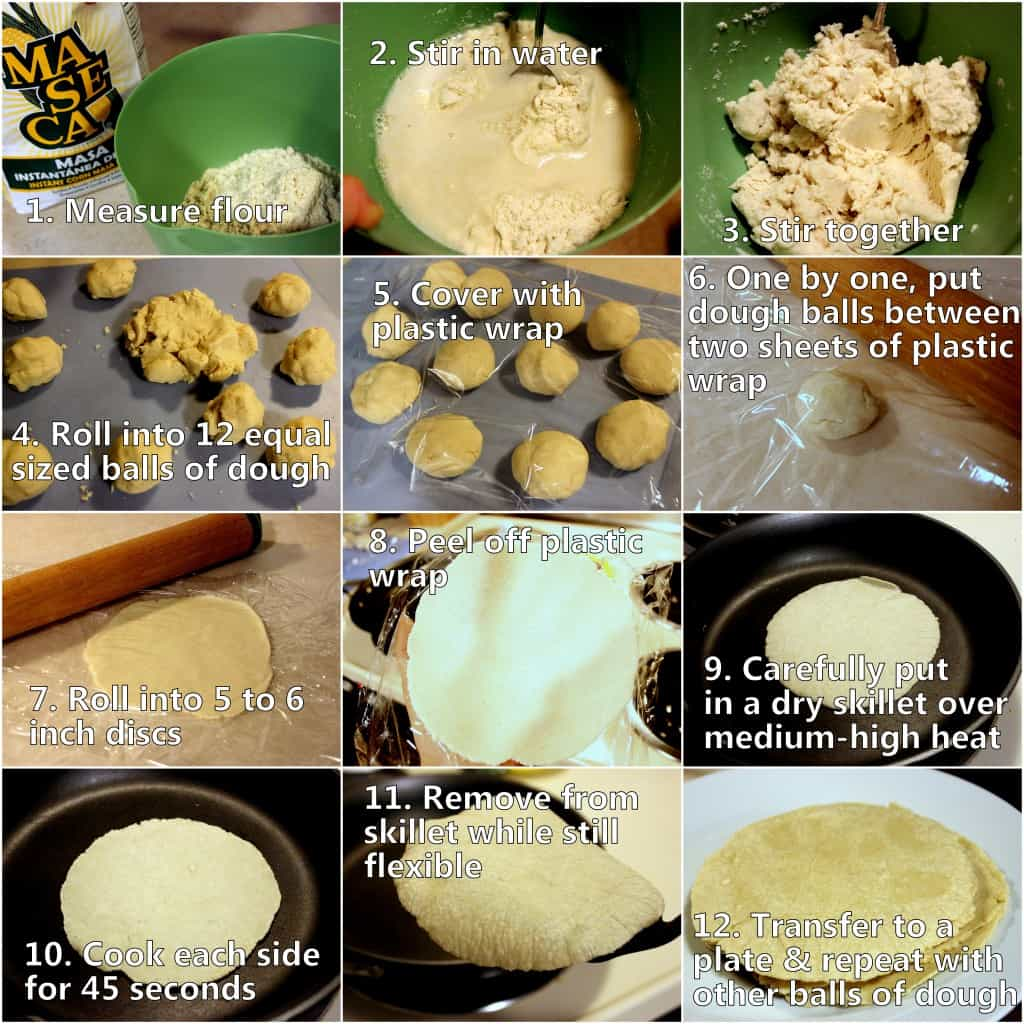 Step by step photos to make homemade tortillas that are infinitely better than store bought ones, both in taste and health