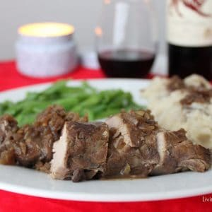 Crock-Pot Pork Tenderloin #recipe from Living Well Kitchen - takes less than 10 minutes prep time and about 4 hours to cook