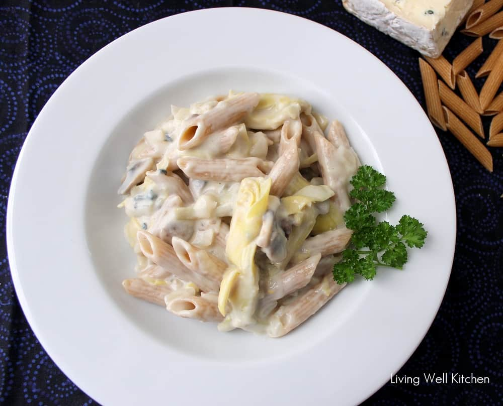 Blue Cheese & Vegetable Alfredo from Living Well Kitchen1