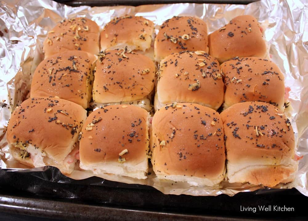 Ham and Swiss Sliders from Living Well Kitchen