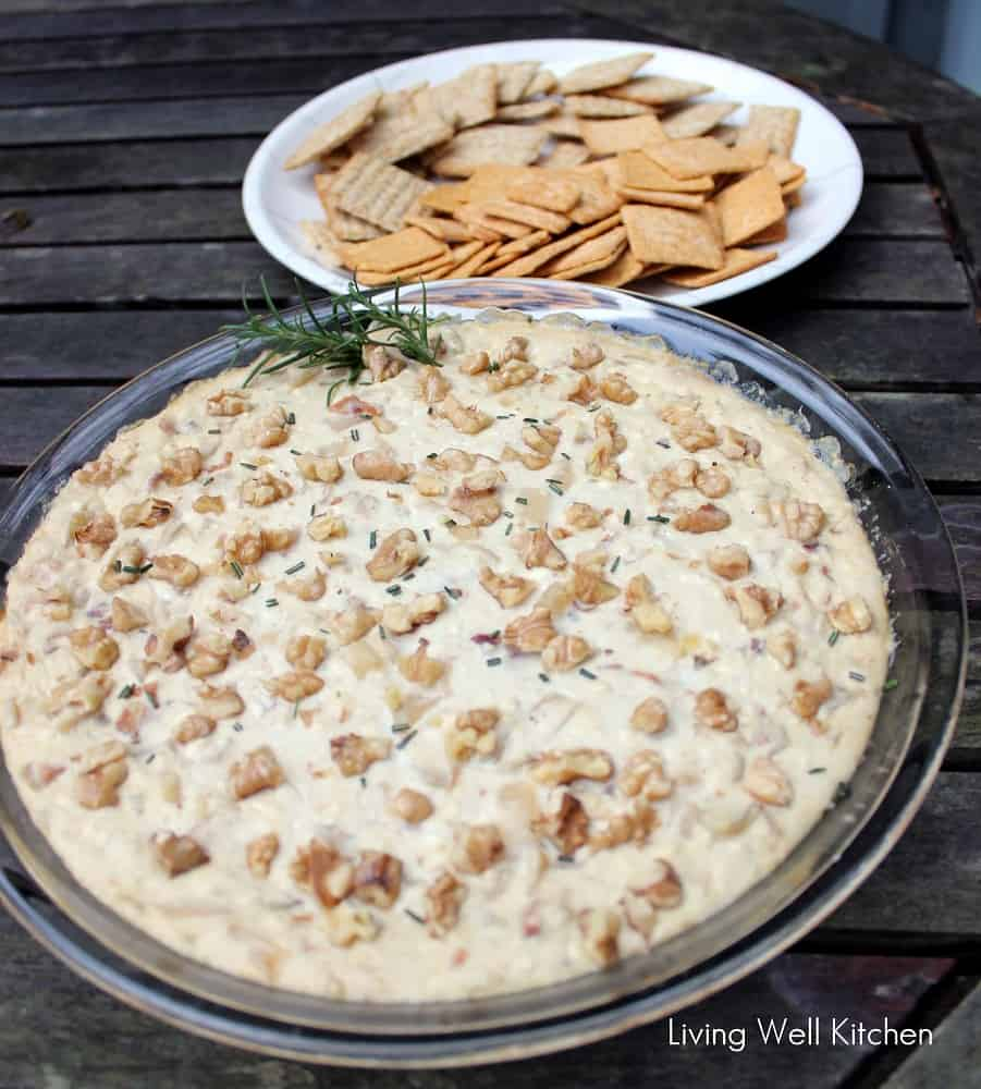 Blue Cheese Bacon Dip from Living Well Kitchen blog