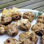 Brie & Crab Stuffed Mushrooms from Living Well Kitchen blog