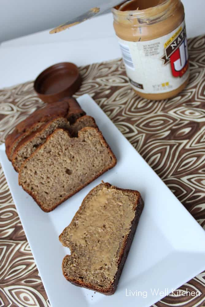 Peanut Butter Banana Bread from Living Well Kitchen