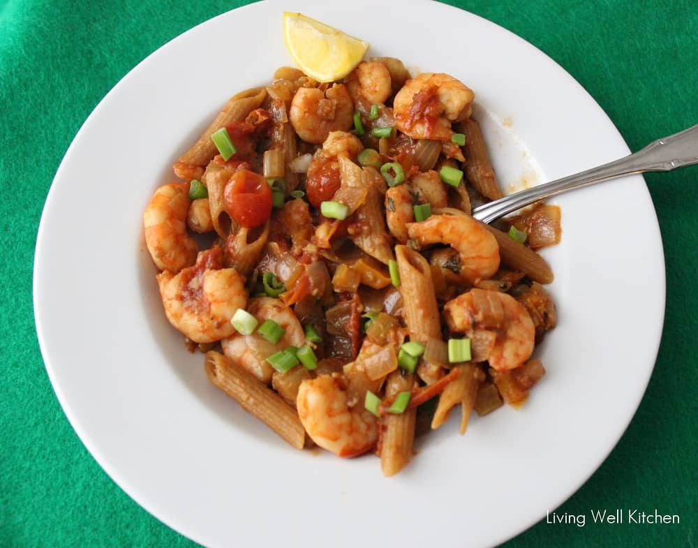 Lemon Shrimp Pasta from Living Well Kitchen
