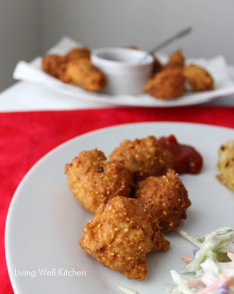 Fried Fish Hushpuppies And Coleslaw