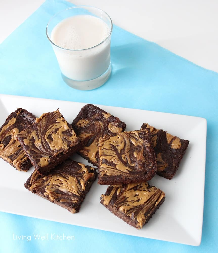 Peanut Butter Swirl Fudge from Living Well Kitchen1