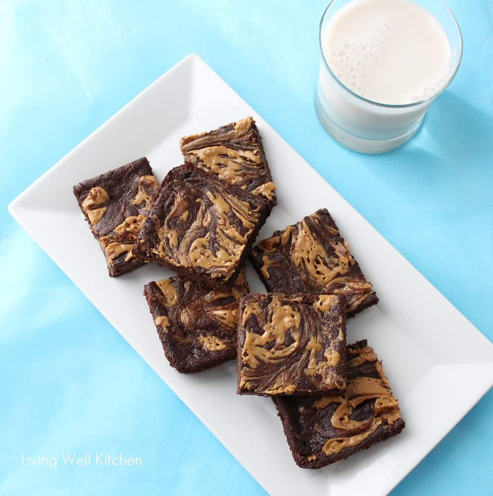 Peanut Butter Swirl Fudge from Living Well Kitchen