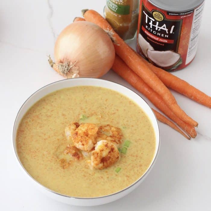 Coconut Curry Carrot Soup from Living Well Kitchen