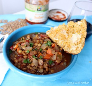 Salsa Lentil Soup from Living Well Kitchen