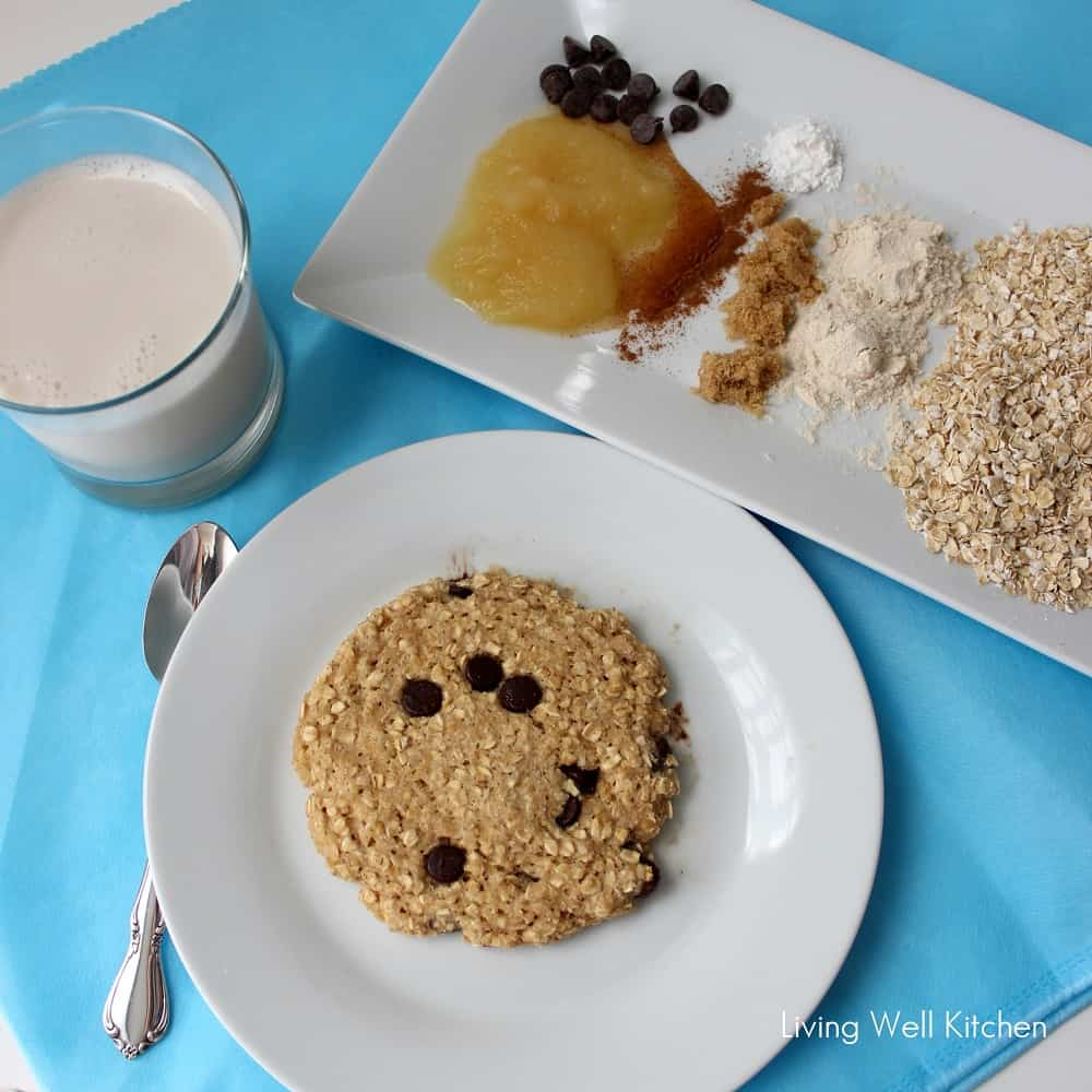 Microwave Oatmeal Cookie from Living Well Kitchen