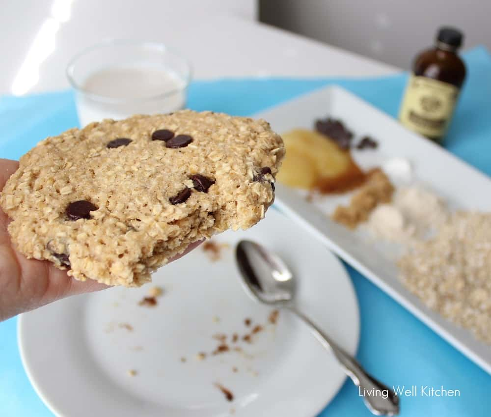 Microwave Oatmeal Cookie from Living Well Kitchen1