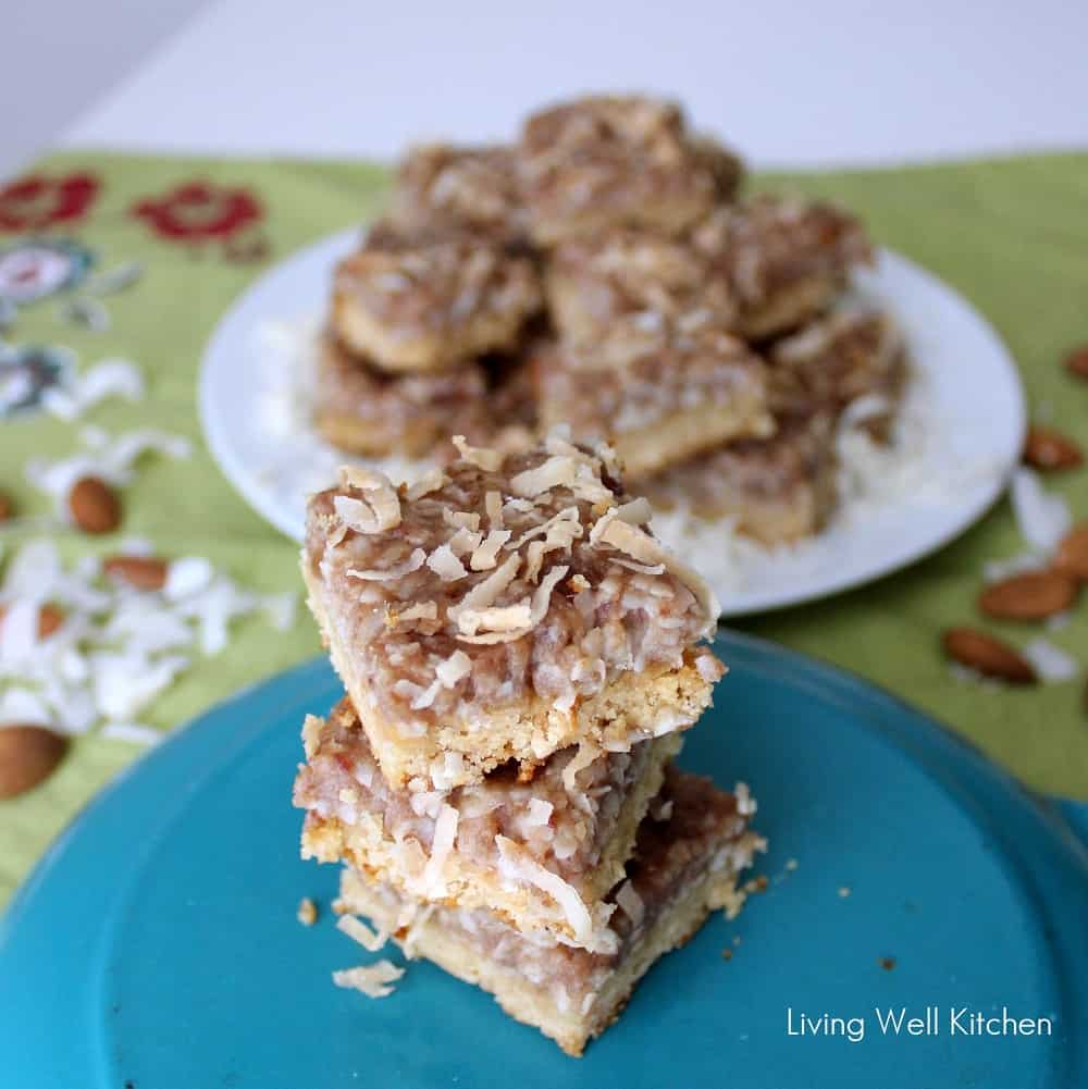 Almond Coconut Bars from Living Well Kitchen