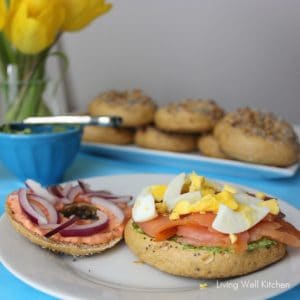 Salmon Bagel Sandwich from Living Well Kitchen