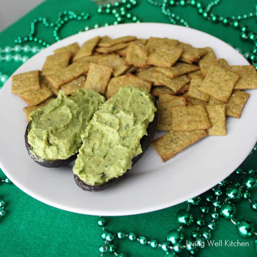 Spinach & Avocado Hummus from Living Well Kitchen