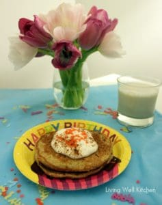 Carrot Cake Protein Pancakes from Living Well Kitchen