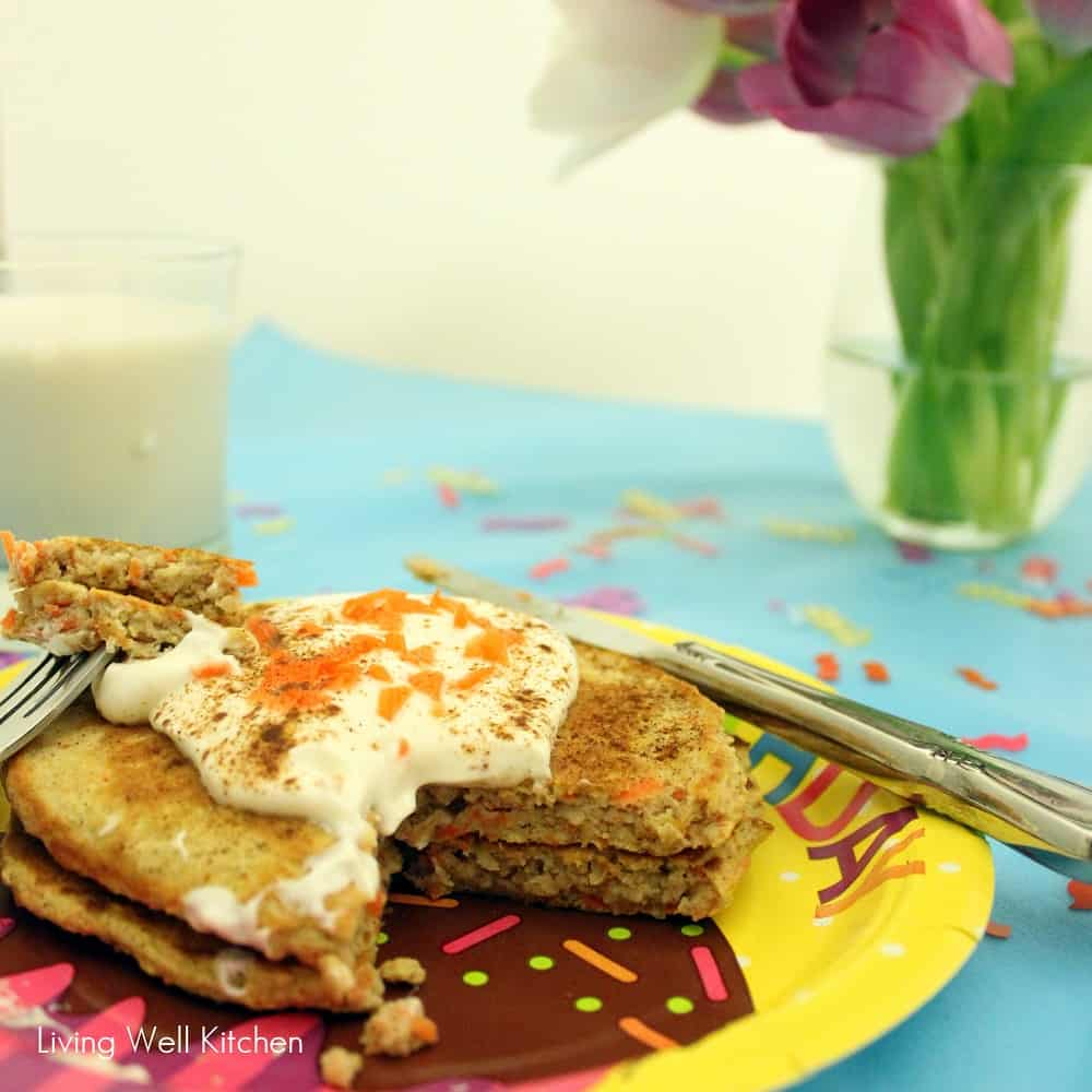 Carrot Cake Protein Pancakes from Living Well Kitchen2