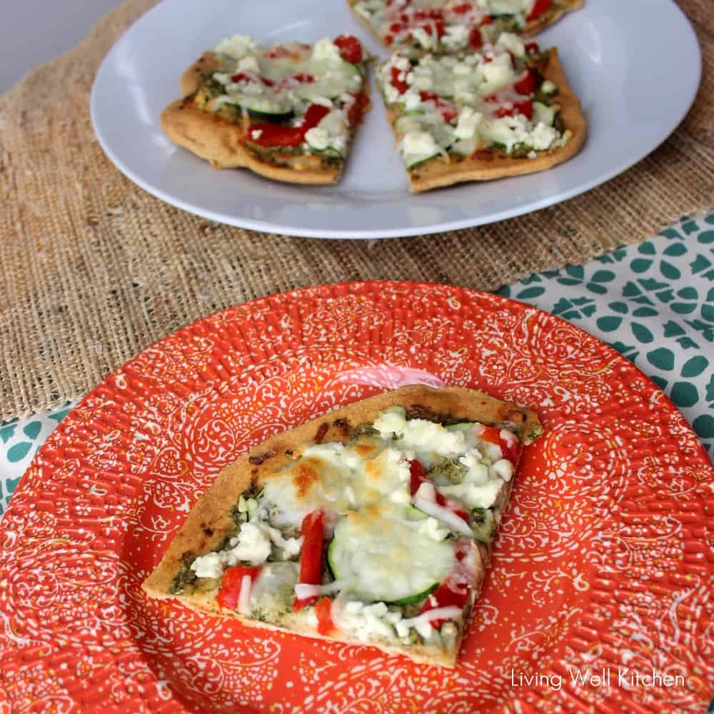 Pizza with Feta & Mint Pesto from Living Well Kitchen2