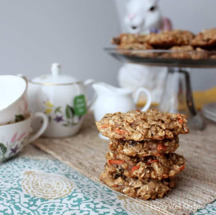 Carrot Oatmeal Raisin Cookies from Living Well Kitchen3